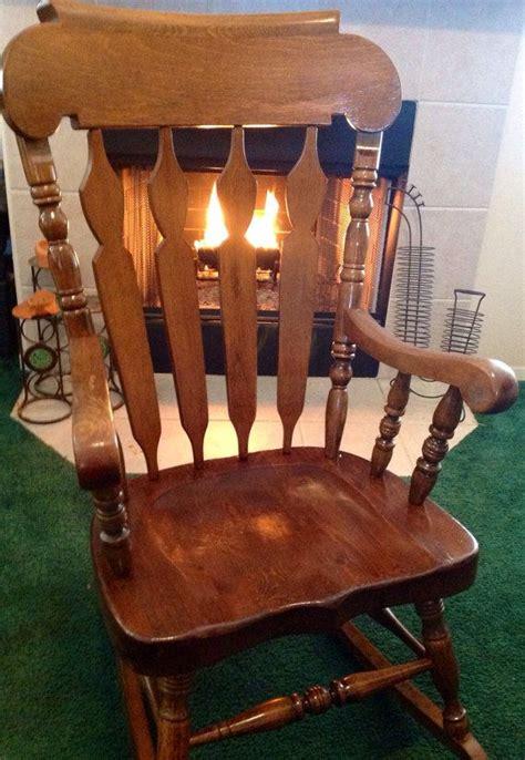 vintage solid wood rocker rocking chair
