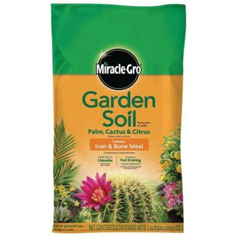 miracle gro 1 cu ft garden soil for palm and cactus