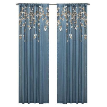 i pinned this flower drop curtain panel in purple from the