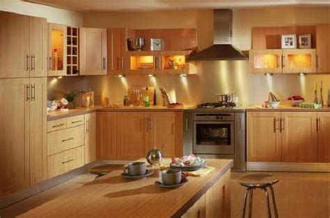 beech kitchen light yellow paint kitchens