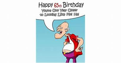 65th Birthday Happy Funny Card Password Special