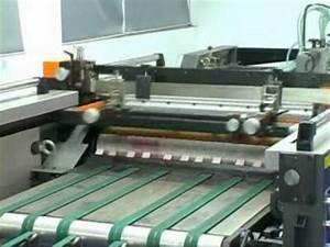 Full Automatic Cylinder Screen Printing Machine - YouTube
