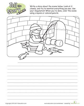 tell the story fishing writing ideas writing