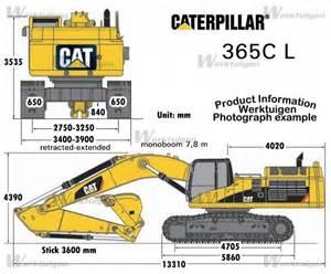 cat excavator sizes caterpillar 365c l caterpillar machinery