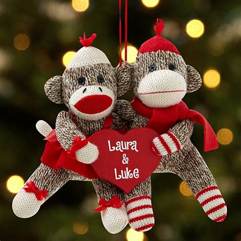 monkey christmas ornament ornaments for couples at personal creations