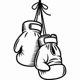 Boxing Glove Coloring Pages Template Gloves Drawings Sketch sketch template