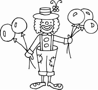 Clown Coloring Clipart Clip Funny Circus Cliparts