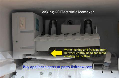 leaking ge icemaker  appliantology gallery