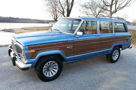 wood panel jeep buy used 1983 jeep grand wagoneer teak wood paneling rare