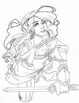 Gypsy Lineart Knight Fang Fey Deviantart sketch template