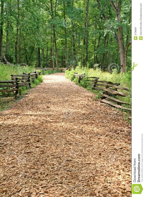 wood chip trail stock image image