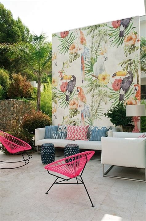outdoor wallpaper  system  wall deco