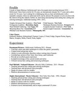 hair stylist resumes templates sle hair stylist cv template 6 free documents in pdf doc