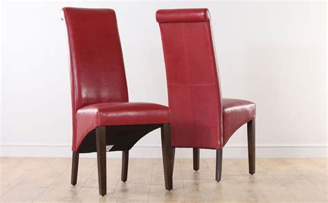 boston red leather dining room chairs wen leg ebay