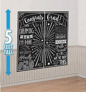This advice tree as well as a thoughtfully written greeting cards can make invaluable gifts for graduates that become lifetime keepsakes, and sow the seeds of a successful life and career. Scene Setter GRADUATION party wall decor kit Black & White PHOTO BACKDROP grad | eBay