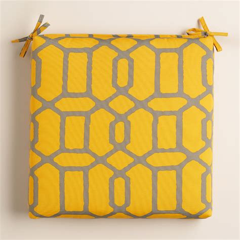 yellow and gray gate outdoor chair cushion world market