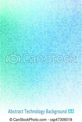 Abstract blue vector technology circle pixel digital