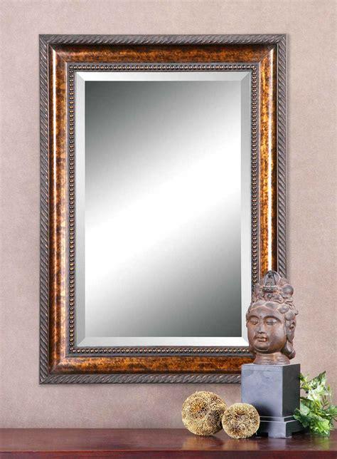 Uttermost Mirrors by Uttermost Sinatra 31 X 49 Large Bronze Wall Mirror Ut11291b
