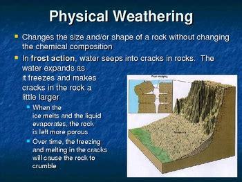 weathering erosion deposition landscapes powerpoint
