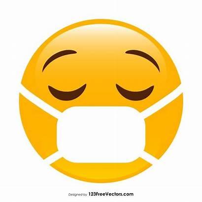 Medical Emoji Mask Face Clipart Vector Clip