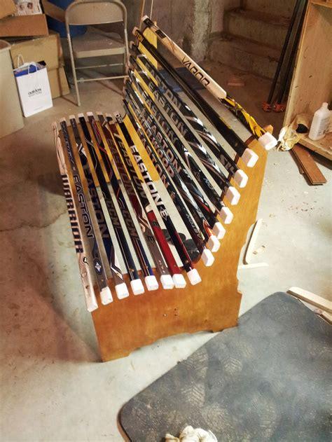project broken hockey stick bench  zehner