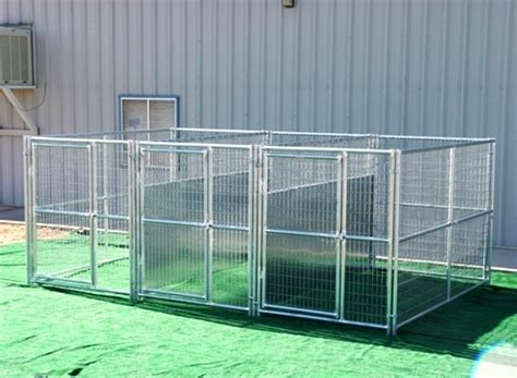 wire crate heavy duty 3 run kennel 5 39 x10 39 x6 39 fight guard dividers