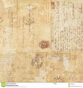 Grungy Vintage Postcard Ephemera Collage Background Stock ...