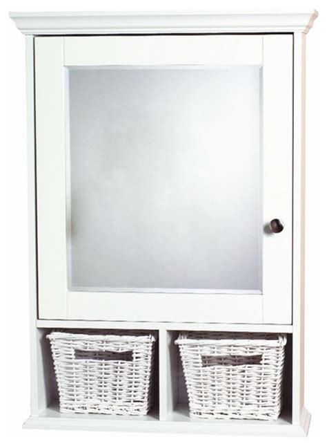 Decorative Medicine Cabinets Framed - white decorative medicine cabinet w baskets contemporary