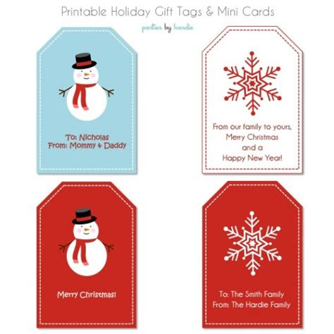 8 best images of free customizable printable gift tags
