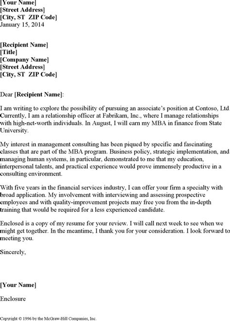 cover letter for management consultant resume for