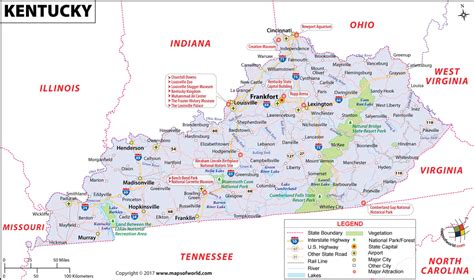 map  kentucky bourbon trail counties state bluegrass county