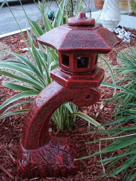 japanese yard decor pagoda concrete lantern statue garden