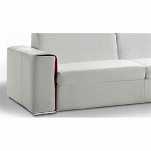 canape cuir convertible journalier lampolet avec matelas 18 cm With canapé lit journalier