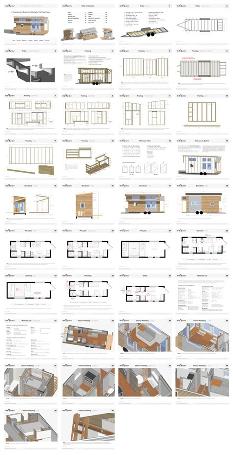 home building blueprints tiny house on wheels floor plans pdf for construction