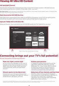 Tte Technology 50s425 Led Tv User Manual 70 F6st10 Qsg1b