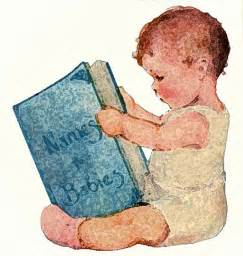 Baby Reading Book Clip Art