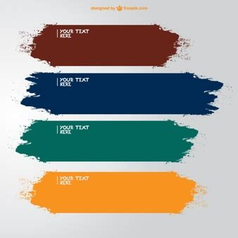 what is the best color to paint your bedroom paint brush vectors photos and psd files free download 21345 | brush strokes banners in different colors 23 2147490960