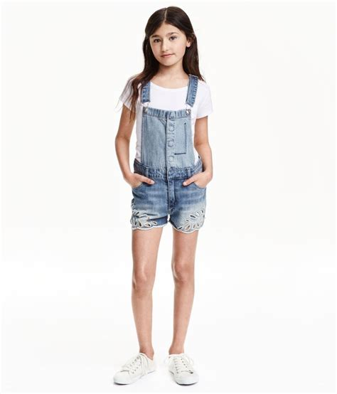 Embroidered Bib Overall Shorts   Hu0026M Kids   Hu0026M FOR THE KIDS   Pinterest   Bibs Shorts and Girl ...