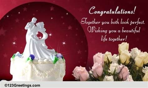 wedding wishes couple congratulations ecards greeting cards