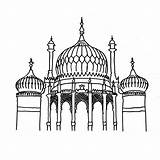 Brighton Pavilion Colouring Sheet Sheets Landmarks Coloring Buildings Printable Contributed Tina Francis sketch template