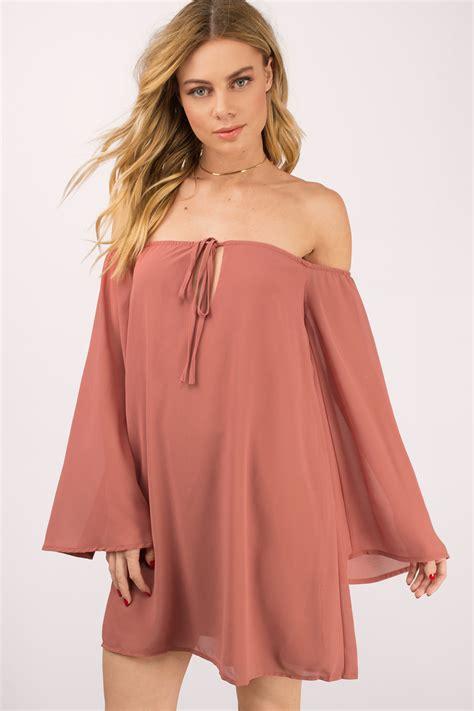 Cute Toast Shift Dress - Off Shoulder Dress - Shift Dress - $22 | Tobi US