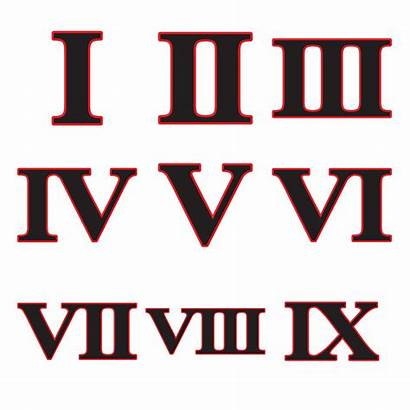 Roman Numeral Numerals Printable Test Quiz Clipart