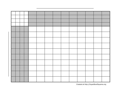 printable football squares grids  templates super