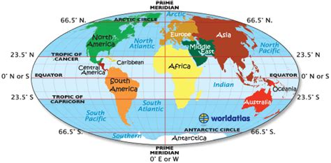 equator map tropic  cancer map tropic  capricorn map