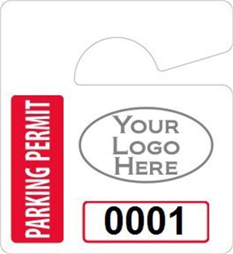 Hanging Parking Permit Template Free by Plastic Toughtags Parking Permit Mini