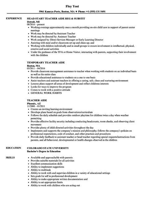 Teacher Assistant Resume | IPASPHOTO