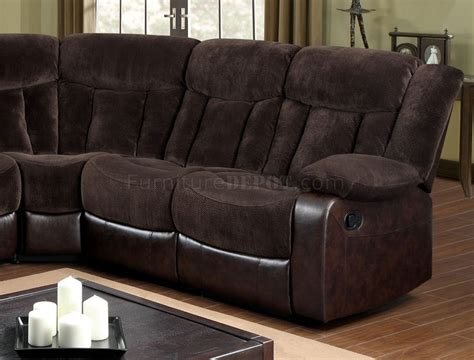 brown fabric recliner sofa hshire reclining sectional sofa cm6809 in brown fabric