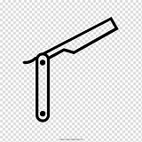 Navalha Razor Straight Barber Drawing Desenho Coloring Clipart Colorir Transparent Hiclipart sketch template