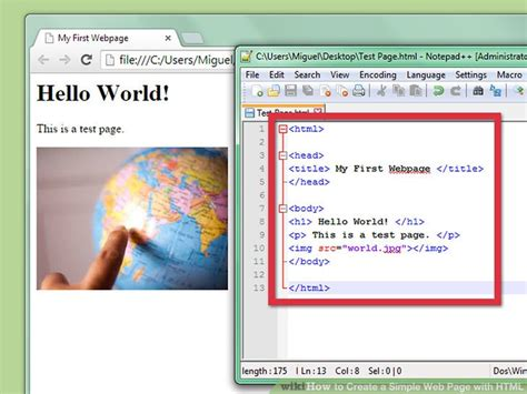how to create a simple web page with html with exles