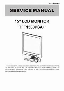 Aoc Tft1560psa Lcd Monitor Service Manual Download